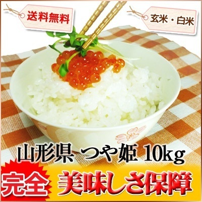 つや姫 山形県 白米 玄米 5kg×2 平成26年産 送料無料の画像