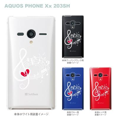 【AQUOS PHONEケース】【203SH】【Soft Bank】【カバー】【スマホケース】【クリアケース】【ミュージック】 09-203sh-mu0007の画像