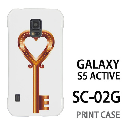 GALAXY S5 Active SC-02G 用『0113 恋の鍵 金』特殊印刷ケース【 galaxy s5 active SC-02G sc02g SC02G galaxys5 ギャラクシー ギャラクシーs5 アクティブ docomo ケース プリント カバー スマホケース スマホカバー】の画像