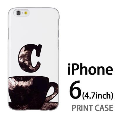 iPhone6 (4.7インチ) 用『No1 C コーヒーカップ』特殊印刷ケース【 iphone6 iphone アイフォン アイフォン6 au docomo softbank Apple ケース プリント カバー スマホケース スマホカバー 】の画像