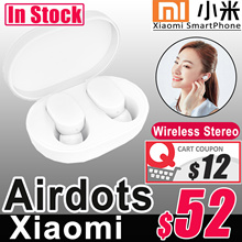 【IN STOCK】2018 NEWEST Xiaomi Airdots Bluetooth 5.0 Youth Wireless Earpiece Dual Channel Stereo MI