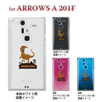 【ARROWS ケース】【201F】【Soft Bank】【カバー】【スマホケース】【クリアケース】【ユニーク】【MOVIE PARODY】【JURASSIC WORLD】 10-201f-ca0055の画像