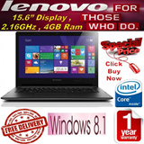 Free Delivery Latest Lenovo B50-30 15.6 inches Notebook / Powerful Intel N2840 Processor (2.16GHz) / 4GB Ram / 500 GB HDD / Numeric Keypad / Windows 8.1 / 1 Year Local Warranty / Limited Sets Only!!!!