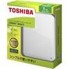 東芝コンシューママーケティング 東芝 CANVIO BASICS ポータブルハードディスク 2.5インチUSB外付けHDD(1TB) HD-AC10TW ホワイト E439166H