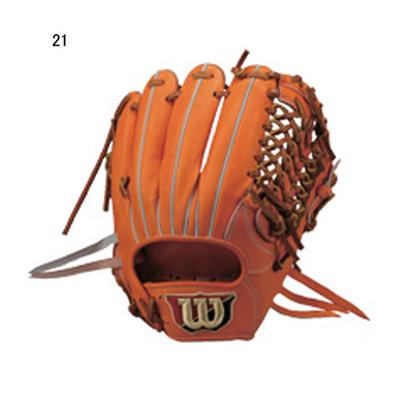 ウイルソン (Wilson) 硬式用グラブ ウィルソンスタッフ 内野手用 右投げ(Wオレンジ) WTAHWMWK6L-21 [分類:硬式野球 内野手用グラブ] 送料無料の画像