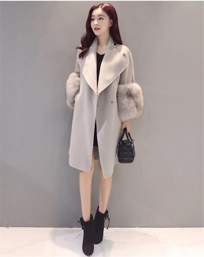 防寒性抜群!2016新作韓国ファッション流行コートラシャコートコートレディースアウター秋冬用上質