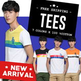 [Fashion Link] Mens T Shirt | Tee | Top | 100% Cotton | Quality Guaranteed | 7 Attractive Colors Available | Local Seller | Instocks Ready! | Free Shipping (T002)
