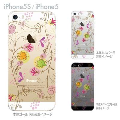 【iPhone5S】【iPhone5】【iPhone5sケース】【iPhone5ケース】【カバー】【スマホケース】【クリアケース】【フラワー】【花と蝶】 22-ip5s-ca0029の画像