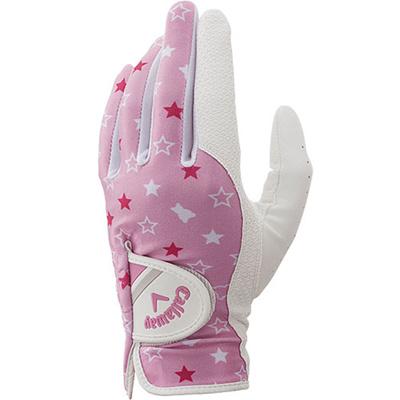 キャロウェイ(Callaway) ウィメンズ シェブ デュアル (CHEV DUAL)両手用 グローブ PNK 【レディース ゴルフ 手袋】の画像