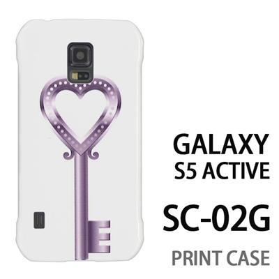 GALAXY S5 Active SC-02G 用『0113 恋の鍵 銀』特殊印刷ケース【 galaxy s5 active SC-02G sc02g SC02G galaxys5 ギャラクシー ギャラクシーs5 アクティブ docomo ケース プリント カバー スマホケース スマホカバー】の画像