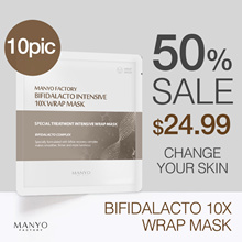 [Manyo Factory HQ Direct operation] ★ Bifidalacto 10X Wrap Mask ★The key points of the brown bottle