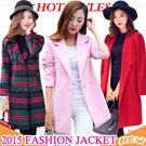 2015 NEW Overcoat【Oct. update】Dust coat / Women Coat / Fur Jacket / Spring Autumn Winter Jacket / Outerwear / Short coat / Pure color coat / Woolen
