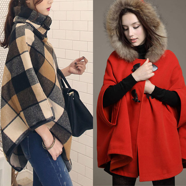 Winter Autumn Woman Cloak Coat Jacket Blazer Shawl Plus Size Dress Deals for only S$99.9 instead of S$0