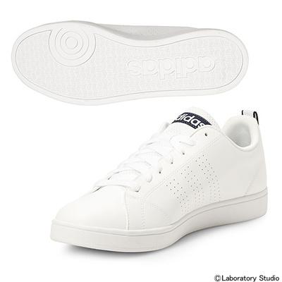 アディダス (adidas) VALCLEAN(ランニングホワイト×ランニングホワイト×カレッジネイビー) F76598 [分類:レディースファッション スニーカー ローカット]の画像