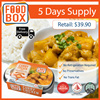 FoodBox Chunky Chicken + Mixed Grain Rice 5-PACK (BULK DISCOUNT!) [READY TO EAT]