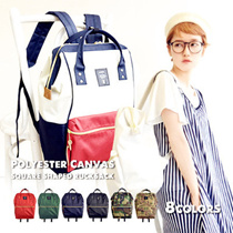 New arrival!!! Original ANELLO series❤Fast delivery!Japan ANELLO BACKPACK ❤ PU BACKPACK / / Unisex Casual Bag / Student BagGirl bag