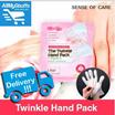 【SOC】The Twinkle Hand Pack ● 1 PAIR of moisturizing glove ● Heats up/Brightens Skin/Anti-Aging/Moisturizes  ●