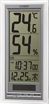 シチズン デジタル温湿度計 ライフナビD204A 8RD204-A19 00030372 〔まとめ買い×3セット〕