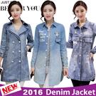 【Fast Shipping】2016 Denim jacket / Denim shirt / Denim skirt suit / Casual dress / Printed Blouses / Long coat【High quality】