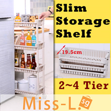 Slim Storage Shelf /Movable slim rack style/kitchen shelf/Slide Out Storage Tower/ rack