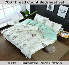 100% Cotton 700 TC Bedsheet Set / Quilt Cover Sets