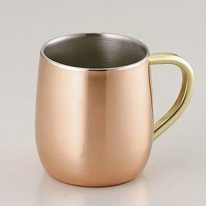 純銅2重マグカップ250mlCNE905bg599