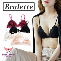 (SweetangelShop) - Bralette soft comfortable non padded sexy lace bra