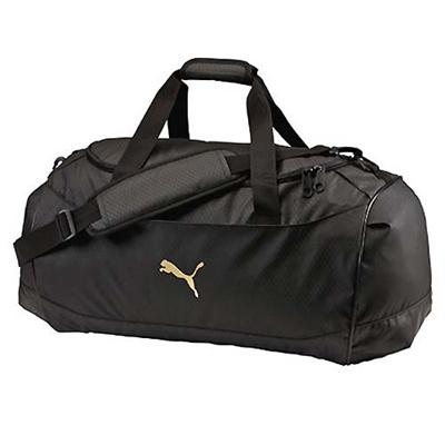 プーマ(PUMA) J ダッフルバッグ Mサイズ 073294 (01)ブラック/ブラック/チーム ゴールド 【バッグ 鞄 カバン ショルダーバッグ】の画像