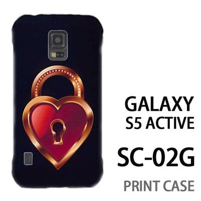 GALAXY S5 Active SC-02G 用『0113 恋の鍵穴 茶』特殊印刷ケース【 galaxy s5 active SC-02G sc02g SC02G galaxys5 ギャラクシー ギャラクシーs5 アクティブ docomo ケース プリント カバー スマホケース スマホカバー】の画像