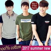 [28 Mar 2017] Korea Men Clothes Clothing 100% Cotton/ Polo Top Shirt/Summer High Quality Tee/Sweater