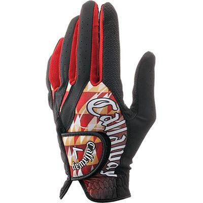 キャロウェイ(Callaway) グラフィック グローブ 15 JM (左手装着用) BLK/RED 【メンズ ゴルフ 手袋】の画像