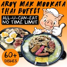 Thai Mookata A LA CARTE BUFFET at Aroy Mak Mookata. Secret Recipe of Chiang Rai Authentic Thai BBQ