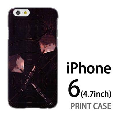 iPhone6 (4.7インチ) 用『No1 D ダーツ 茶』特殊印刷ケース【 iphone6 iphone アイフォン アイフォン6 au docomo softbank Apple ケース プリント カバー スマホケース スマホカバー 】の画像