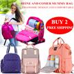 Heine Mummy bag diaper bag mommy bag Multifunctional backpack