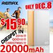 🌟Christmas 15.9$🌟Remax PRODA NOTE 30000mAh🌟HXR 20000mAh Powerbank of big capacity and stability built-in 4 USB port 2 USB port with 2.1A fast charging leather exquisite appearance