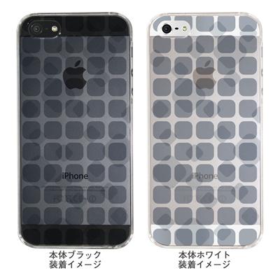 【iPhone5S】【iPhone5】【Clear Arts】【iPhone5ケース】【カバー】【スマホケース】【クリアケース】【チェック・ボーダー・ドット】【タイル】 ip5-06ca0021qの画像