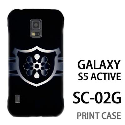 GALAXY S5 Active SC-02G 用『No3 緑のエンブレム』特殊印刷ケース【 galaxy s5 active SC-02G sc02g SC02G galaxys5 ギャラクシー ギャラクシーs5 アクティブ docomo ケース プリント カバー スマホケース スマホカバー】の画像