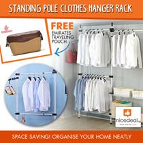 [FREE GIFT] Korea Standing Pole Clothes Hanger Rack 2502/ 3802 /2504 /250b04/ 2503b02/ 2503b01/2503 /3804 / SKU1323 / SKU1324