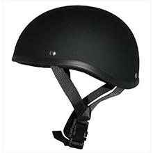 ヘルメット ダックテール(マットブラック )s-59ゴーグルバンドレス 半帽  【サイズ】57~60cm未満