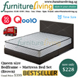 Furniture Living SG - New Queen size Bedframe + Mattress Package Set in Brown colour for only $228! Free Delivery + Installation