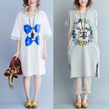 2016 体型カバーになる!韓国女性のファッション新作/Aラインワンピース/大きいサイズドレス/レディース ドレス 半袖/チュニック/送料無料/夏 ワンピース半袖ワンピース/Aラインワンピース