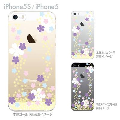 【iPhone5S】【iPhone5】【Clear Fashion】【iPhone5ケース】【クリア カバー】【スマホケース】【クリアケース】【ハードケース】【着せ替え】【イラスト】【桜C】 ip5-09-flo0003の画像