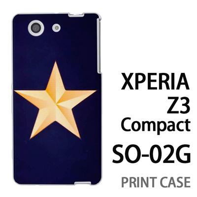 XPERIA Z3 Compact SO-02G 用『1222 スター 紺』特殊印刷ケース【 xperia z3 compact so-02g so02g SO02G xperiaz3 エクスペリア エクスペリアz3 コンパクト docomo ケース プリント カバー スマホケース スマホカバー】の画像