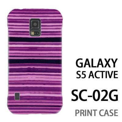 GALAXY S5 Active SC-02G 用『No4 かすれボーダー 紫』特殊印刷ケース【 galaxy s5 active SC-02G sc02g SC02G galaxys5 ギャラクシー ギャラクシーs5 アクティブ docomo ケース プリント カバー スマホケース スマホカバー】の画像