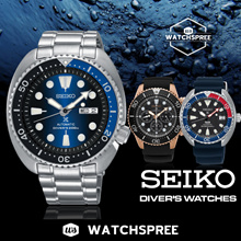 *APPLY 25% OFF COUPON* [SEIKO] Seiko Automatic Diver Watches! Free Shipping and 1 Year Warranty.