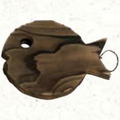 萬洋鍋敷き木製杉魚鍋敷34-002