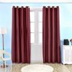 幅広グロメットトップ断熱窓暗幕ソリッドカラーの部屋はカーテンを暗く