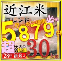 ★★600円クーポン使用可能!最終日18日!28年ブレンド米!30kg !滋賀県で収穫したお米です。滋賀県は琵琶湖に四方を囲む高い山々、豊かな自然に恵まれており、米作りに最適の環境のお米今回は安価タイプでご用意いたしました。