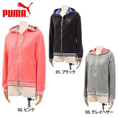 プーマ PUMA ベロア ジャケット パーカー スウェット I LIKE PUMA 567583 レディース(女性用)の画像