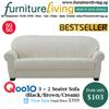 Furniture Living SG - New 3 + 2 Seater Sofa in Black / Brown / Cream / Khaki / Maroon colour